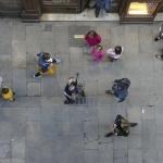 Toeristen in de Escudellers – Barcelona april 2017