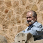 Kerkganger met snor – Barcelona april 2017