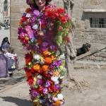 Bloemenmeisje vraagt om geld – Barcelona april 2017
