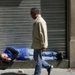 Slapende bedelaar - Barcelona april 2017
