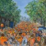 Oranjefeest op de Rozengracht in Amsterdam