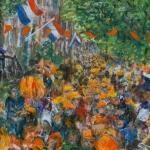 Kunstkaart feest in Amsterdam