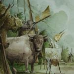 Sterrenbeeld Stier-Taurus.