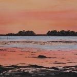 zonsondergang op het eiland Funen