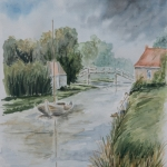 bruggetje in dorp