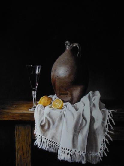 Stilleven citroenen (60 x 45 cm)