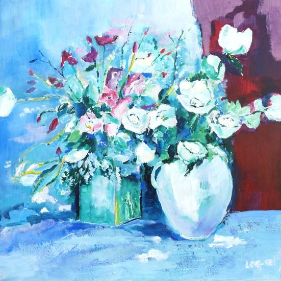 vazen met rozen