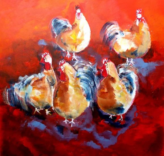 kakelende kippen