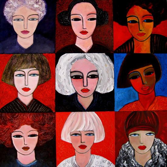 9 Females