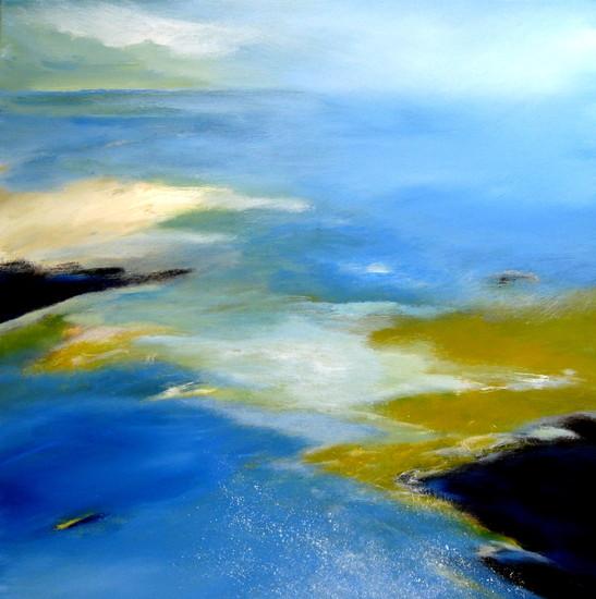 The coast touching the sea