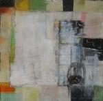 materieschilderij, verschillende lagen, contrast zoals glans en dof, ruw en glad, kleur en aardetinten