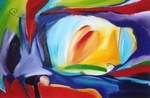 Dorine van laak hendrikx abstracte schilderijen moderne kunst kleurrijke kunst kleurrijk - Kleur trap schilderij ...