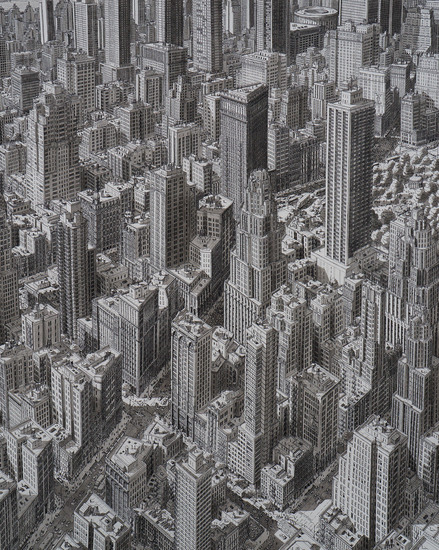 Ergens boven Manhattan