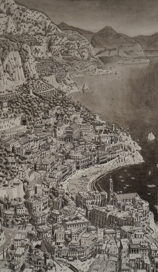 Town on the Amalfi Coast