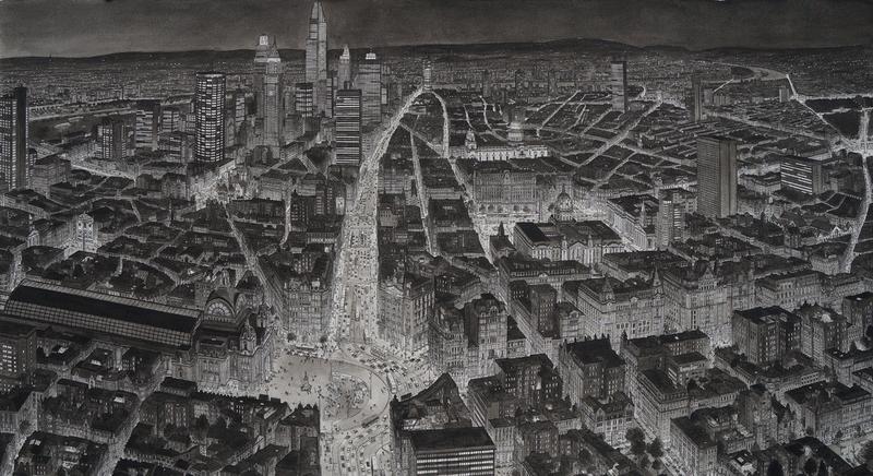 Stad bij Avond