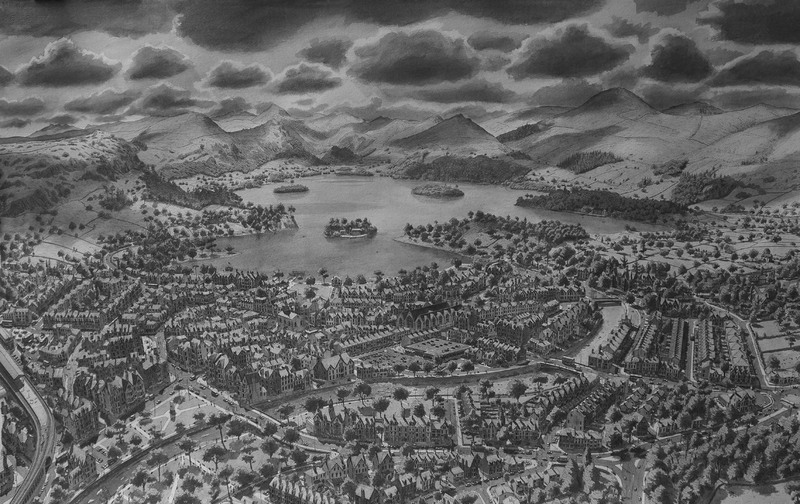 De Grote Lake District Tekening