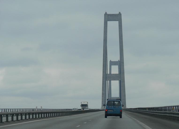 brug over Storebaelt, Denemarken