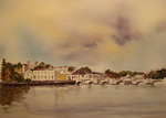 Watercolours of the Algarve, Portugal, mainly from the beautiful natural parc Ria Formosa and the surrounding villages