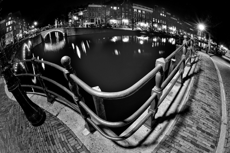Amsterdam @ night in BW 5
