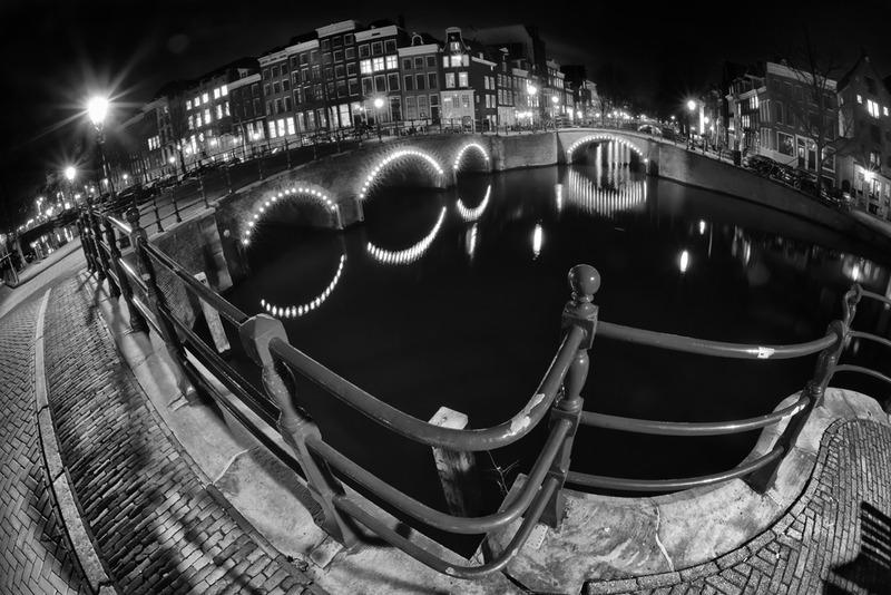 Amsterdam @ night in BW 6