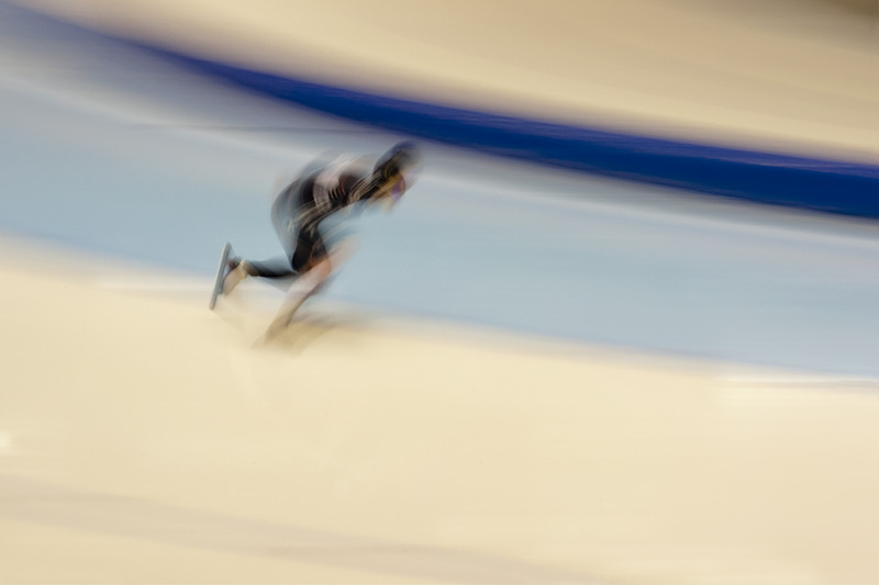 Speed Skater abstract
