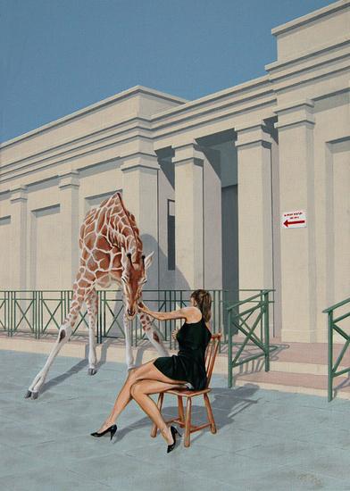 Giraf aanhalen