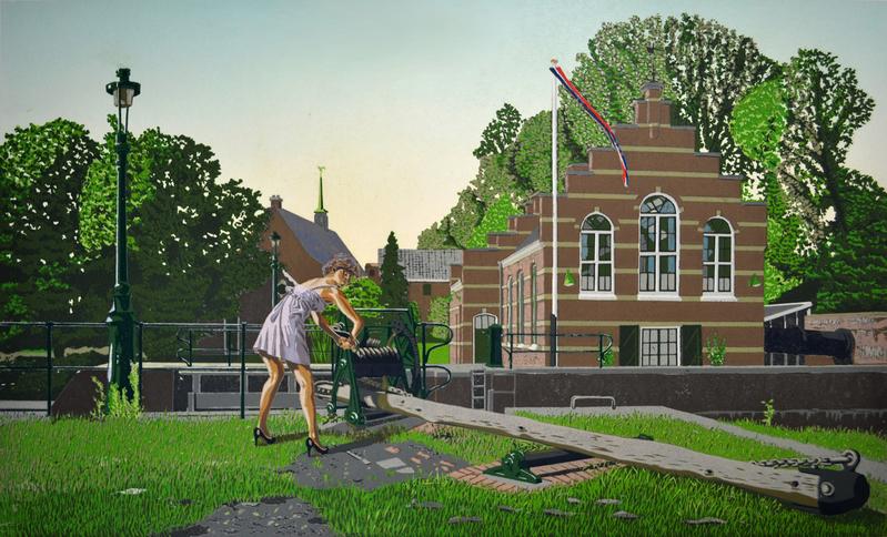 Sluis en stoomgemaal Houtrustweg Den Haag