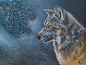 schilderijen van wolven