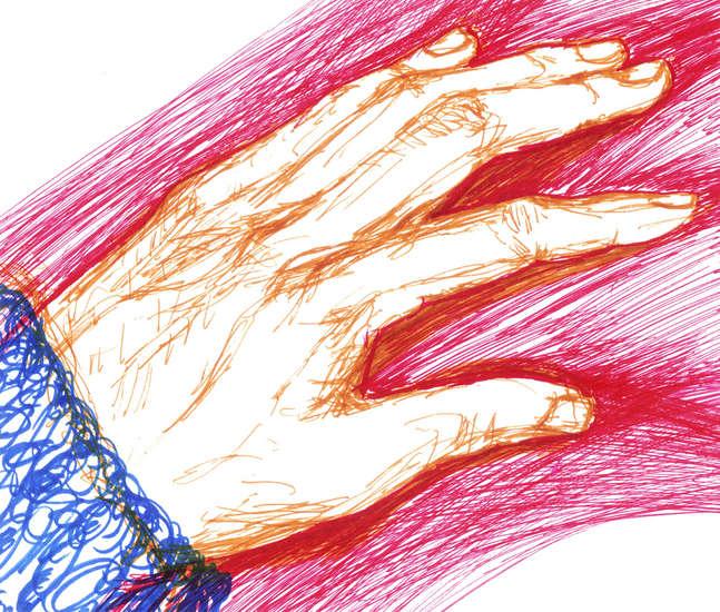hand; creation (drawing by franka waaldijk)