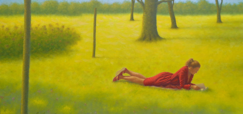 Lezende Dame in de Zon
