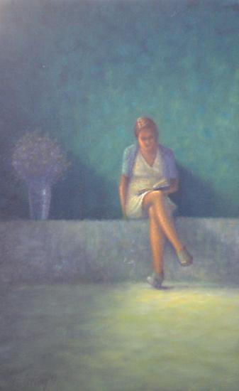 Dame lezend in de zon II
