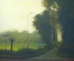 Deze schilderijen maakte Theo Leering van Landschappen in zijn directe omgeving, maar ook ver daarbuiten.