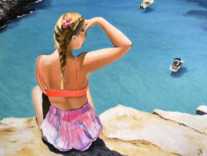 Artistieke naaktschilderijen in kleurexplosie