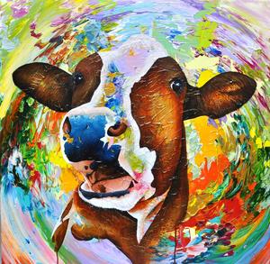 Bij deze Lightscape-serie ging zij vanuit haar eigen gevoel, haar gevoel voor de natuur, met de materie, zonder voorop gesteld plan, aan het werk om haarzelf en het publiek te laten verrassen. Anita maakt deze kleurrijke koeienschilderijen ook in opdracht.