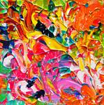 Kleine abstracte schilderijen van Anita Ammerlaan.