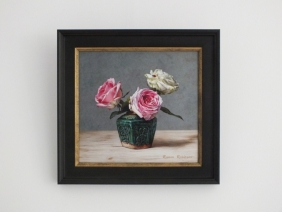 Giclée van Stilleven met rozen