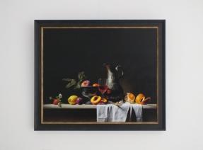 Giclée van Stilleven met kan en fruit
