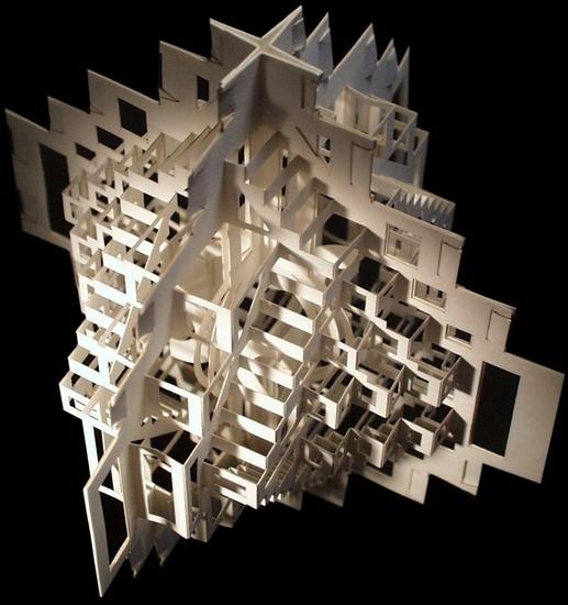 Opengewerkte kubus