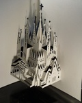 These pieces are inspired by buildings of Antoni Gaudi. These buildings are mainly situated in Barcelona, Spain.