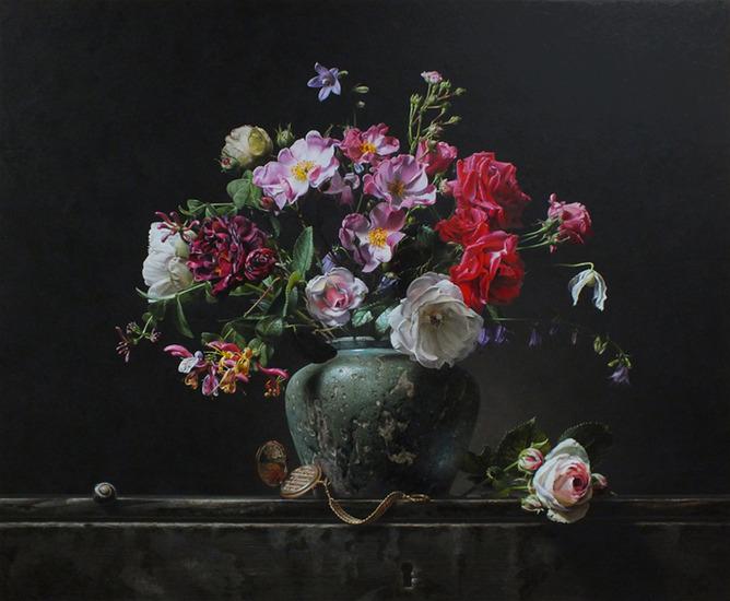 Stilleven met zomerbloemen