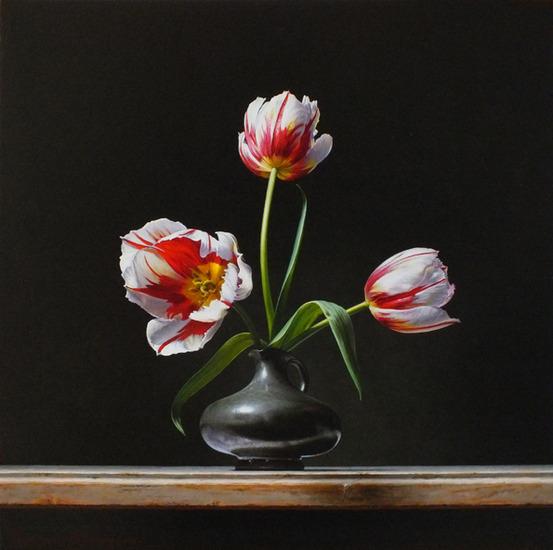 Stilleven met tulpen (Rembrandt tulp)
