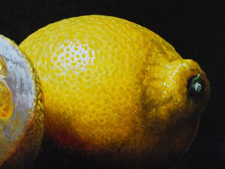 Detail 4 van witte wijn en citroenen