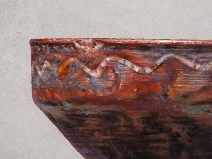 Detail 2 van aardewerk en eieren