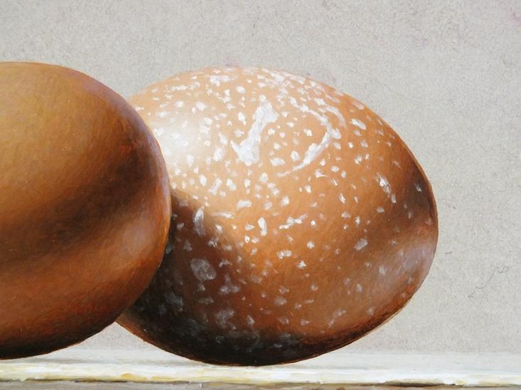 Detail 3 van aardewerk en eieren