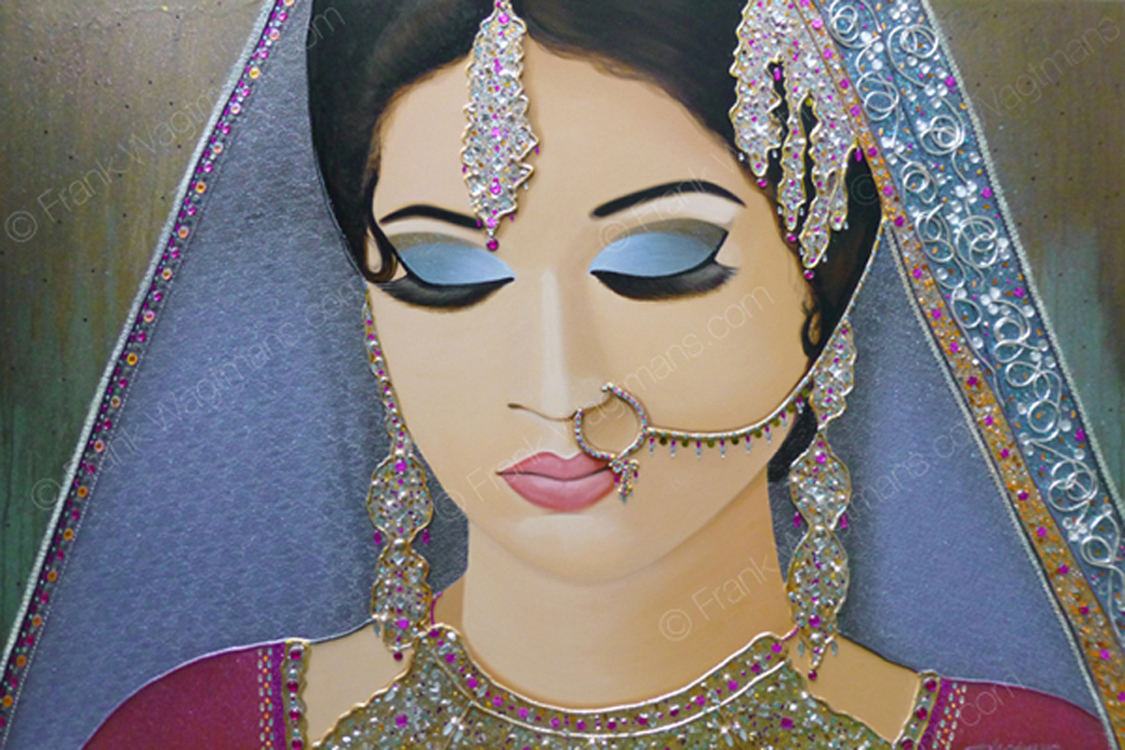 Schilderij Arabisch : Modern Art Portrait Paintings