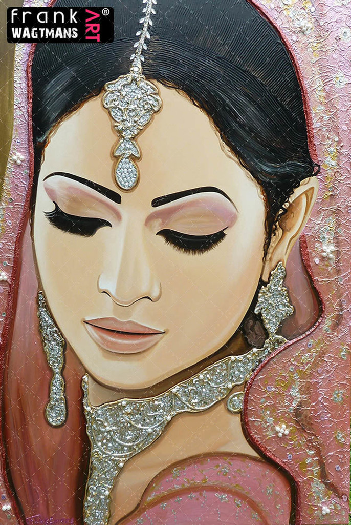 Frank's Art - Indian bride painting Moments In Love