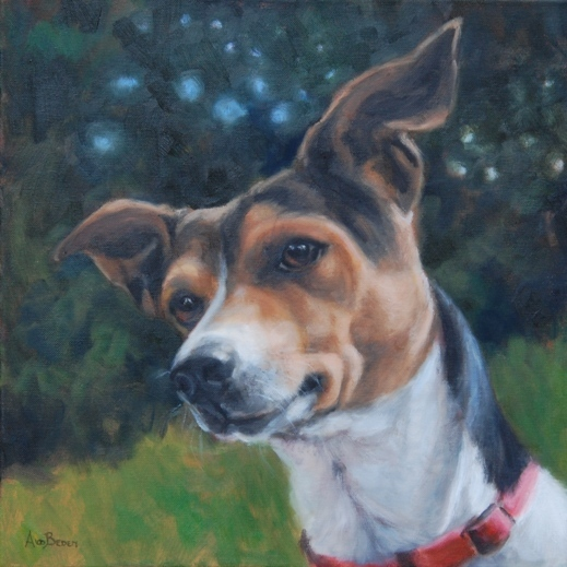 PORTRET VAN HOND BOBBIE