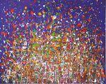 reeks schilderijen gebaseerd op het werk van muzikant-componist Jaco Pastorius.