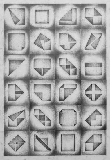 Gevouwen vierkanten 1