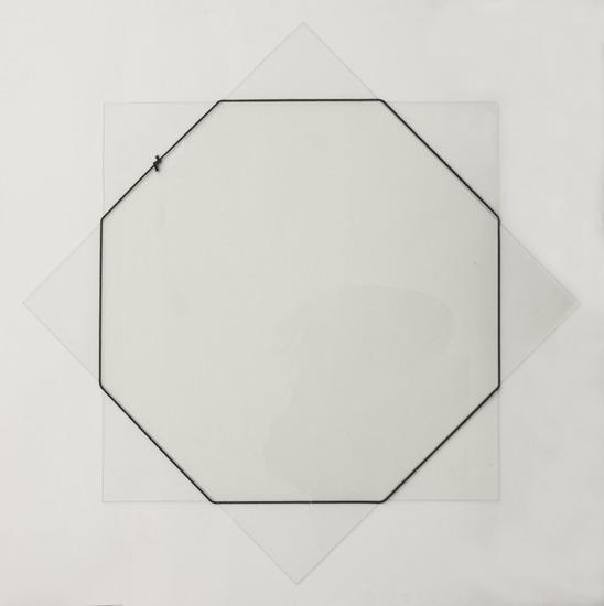 Octagon van zwart koord